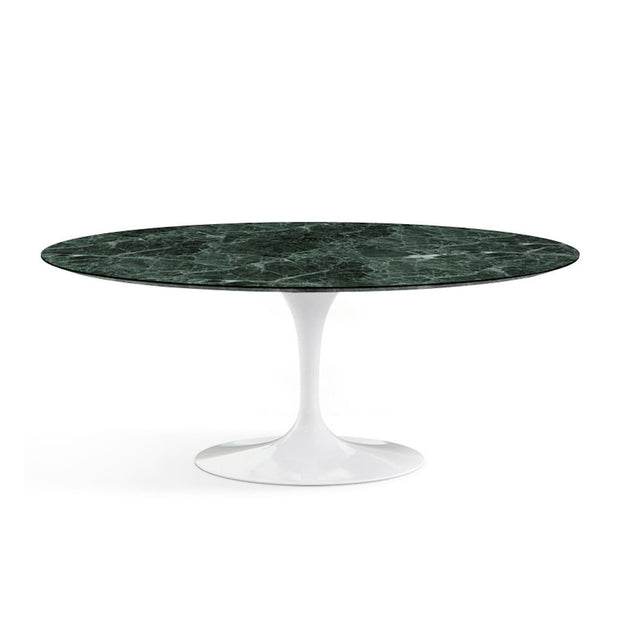 Oval Tulip Dining Table - Verde Alpi Marble | Eero Saarinen | Designer Furniture Replicas | M-Edition