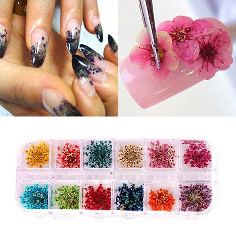 12 Colors DIY 3D Nail Art Stickers