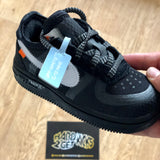 Off White Nike Air Force 1 Toddlers - Black
