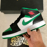 Air Jordan 1 Mid GS - Green Toe