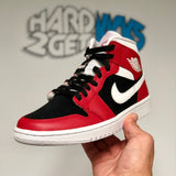 Wmns Air Jordan 1 Mid - Gym Red/Black/White