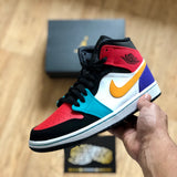 Air Jordan 1 Mid - Bred Multi