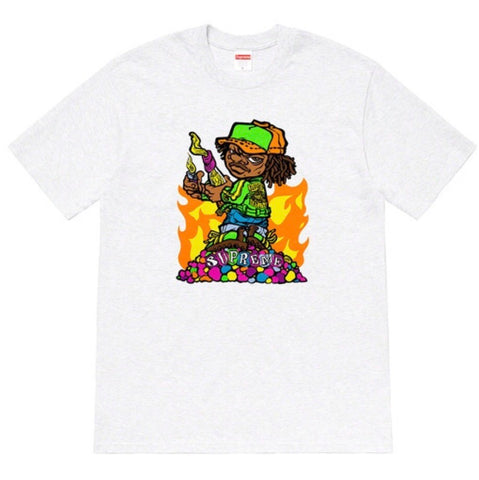 Supreme Molotov Kid Tee - Ash Grey