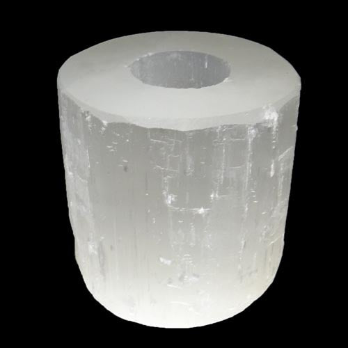 Selenite Tea Light | Earthfound.co.uk