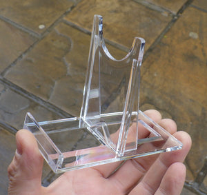 4 Large 2-Piece Plastic Display Stands | Earthfound.co.uk