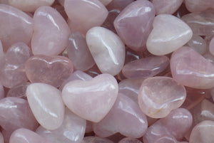 Rose Quartz Hearts | Earthfound.co.uk