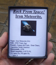 Load image into Gallery viewer, Small Campo del Cielo Iron Meteorite | Earthfound.co.uk