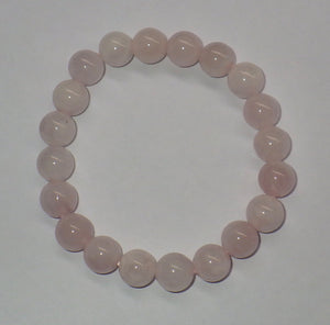 Rose Quartz Gemstone Bracelet | Earthfound.co.uk