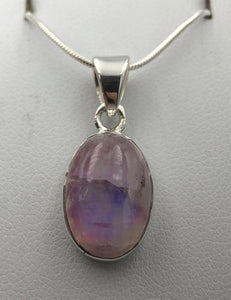 Oval Purple Moonstone Silver Pendant | Earthfound.co.uk
