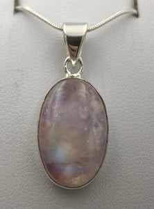 Oval Purple Moonstone Silver Pendant |Earthfound.co.uk