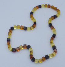 Load image into Gallery viewer, Three Colour Cube Baltic Amber Necklace | Earthfound.co.uk