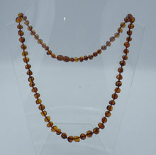 Load image into Gallery viewer, Beautiful 19 inch Cognac Baltic Amber Bead Necklace | Earthfound.co.uk