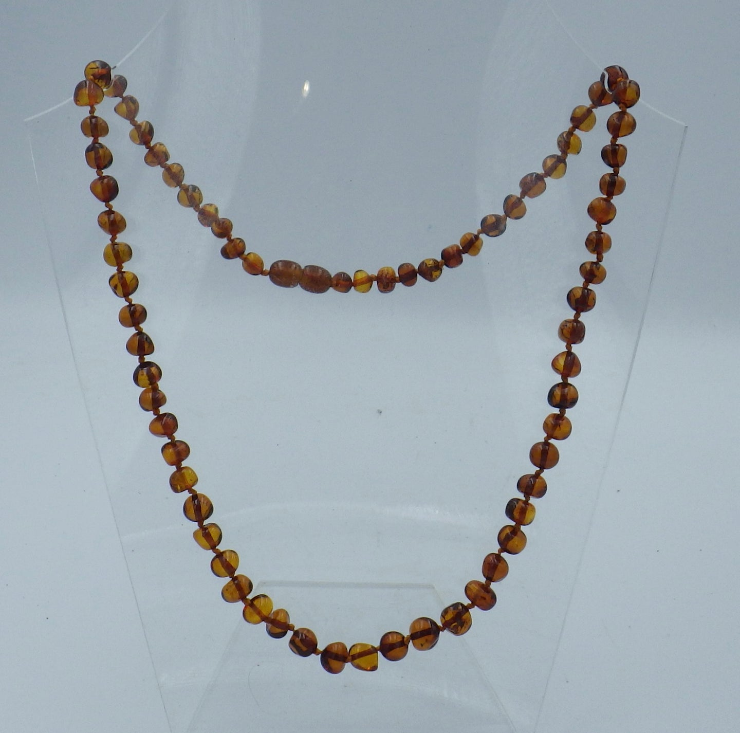Beautiful 19 inch Cognac Baltic Amber Bead Necklace | Earthfound.co.uk