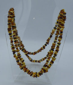 25 Inch Three Colour Chip Baltic Amber Necklace | Earthfound.co.uk