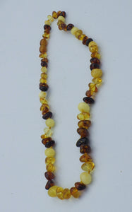 18 inch Three Colour Baltic Amber Bead Necklace | Earthfound.co.uk