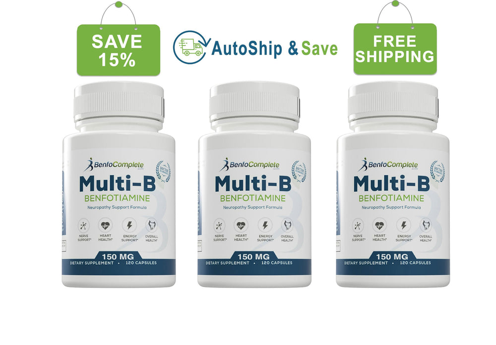 Autoship & Save - Multi-B Neuropathy Support Formula 150mg Capsules 3 Bottles Every 90 Days - BenfoComplete