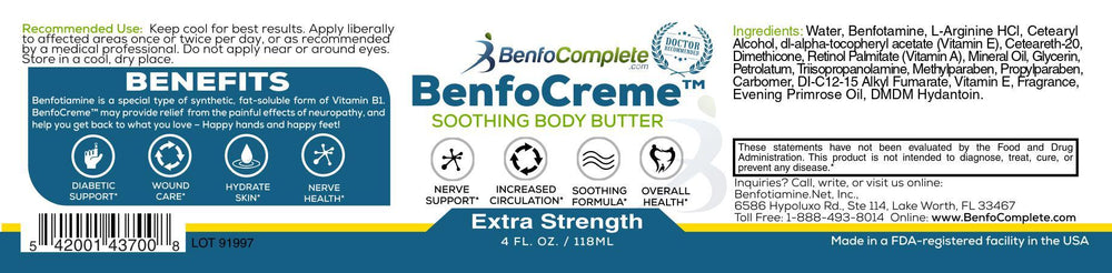BenfoComplete Extra Strength BenfoCreme™ 4 oz. - Select Discount Option - BenfoComplete