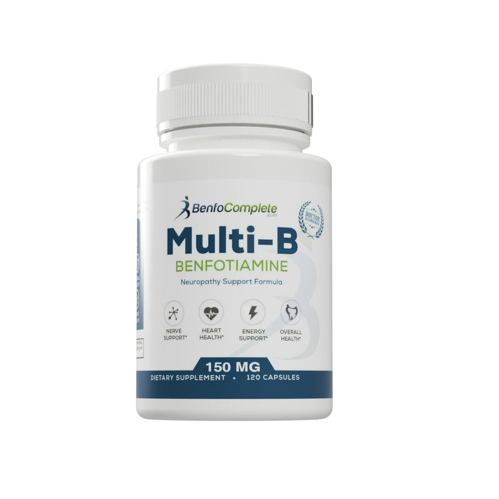 BenfoComplete™ Multi-B Neuropathy Support Formula 150mg 120 Gelatin Capsules 3 Bottles & BenfoCreme™ Bundle - BenfoComplete