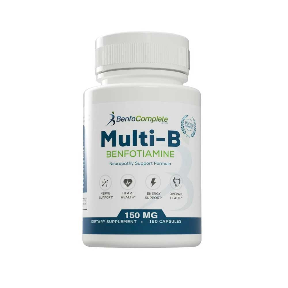 Multi-B Neuropathy Support Formula 150mg 120 Gelatin Capsules per Bottle - Select Discount Option - BenfoComplete