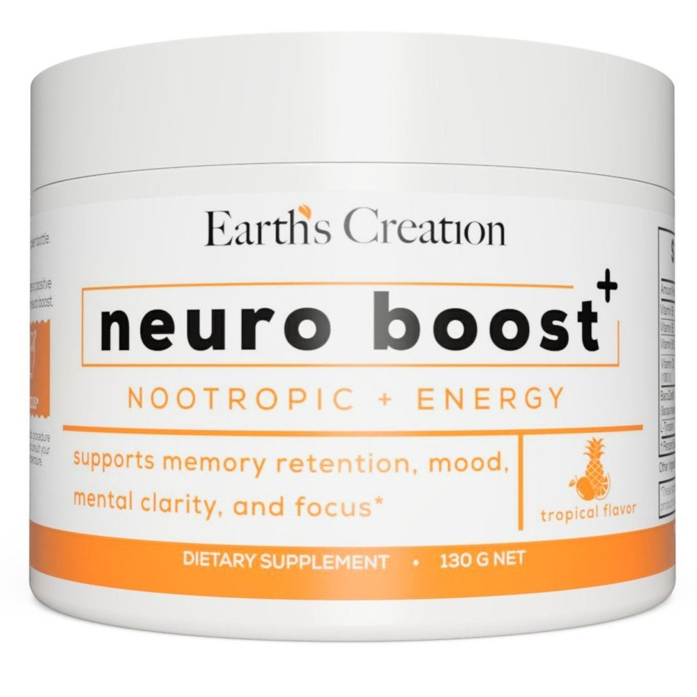 Neuro Boost+ by Earth Creation Supports Memory Retention, Mood, Mental Clarity & Focus - BenfoComplete
