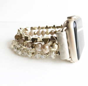 Gold Beaded Apple Watch Band