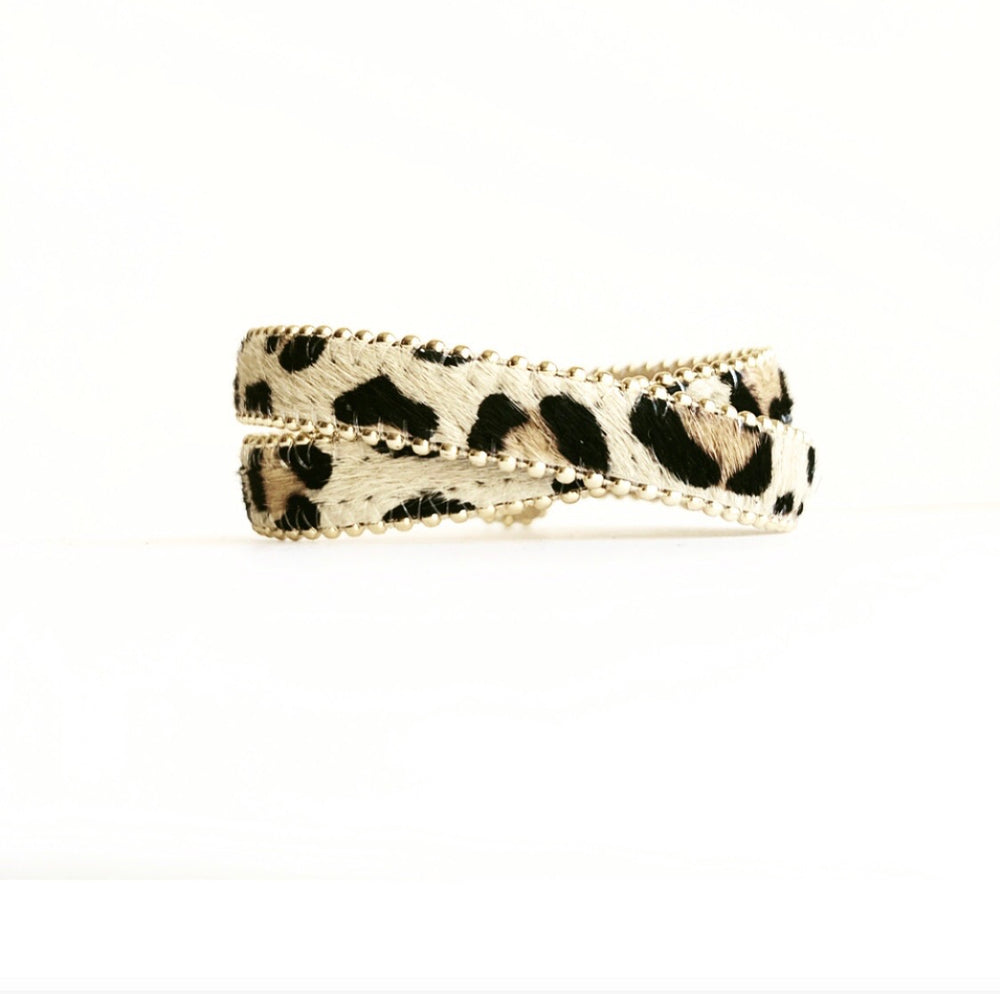 Animal Print Double Wrap Bracelets
