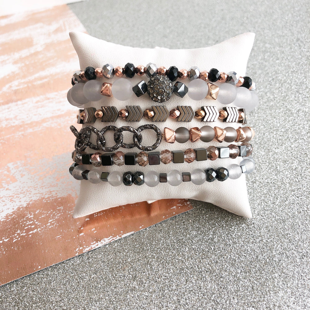 Gray and Rose Gold Stack