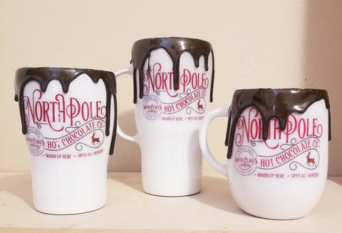 Chocolate drip Cocoa mugs