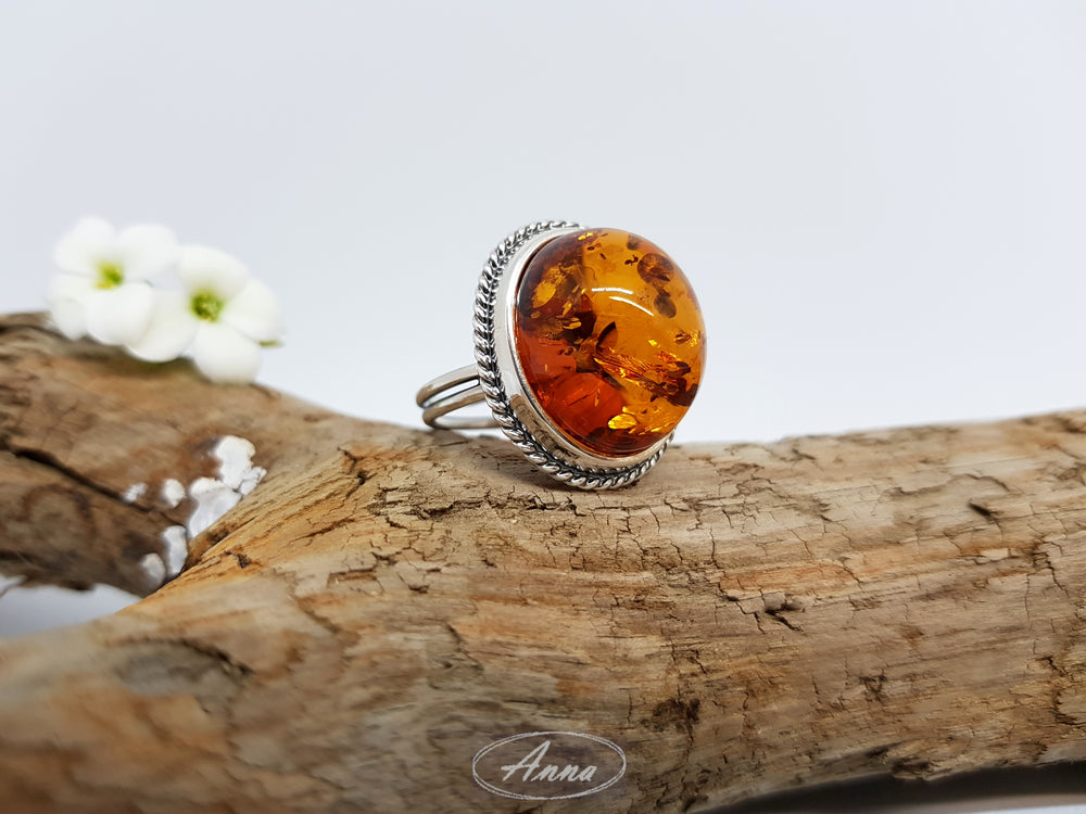 Cognac Amber Ring