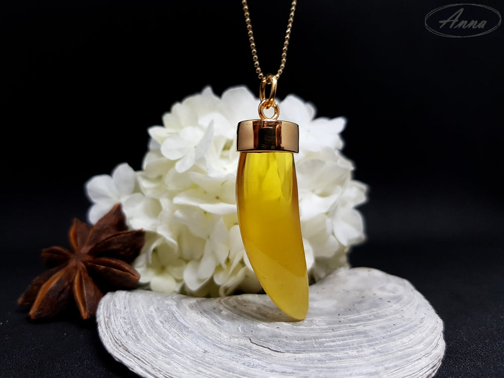 Viking's tooth - Amber Pendant