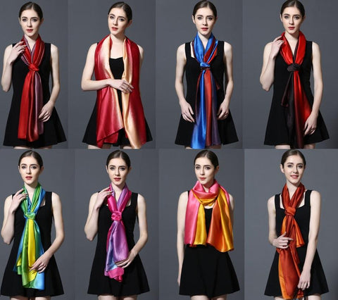 Latest Design 2 Tone Silky Luxury Style Long Shawl