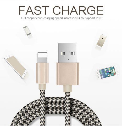 Ligthning Fast Charging Cable 2.1A USB Cable for iPhone XR XS Max 8 7 6 6s 5