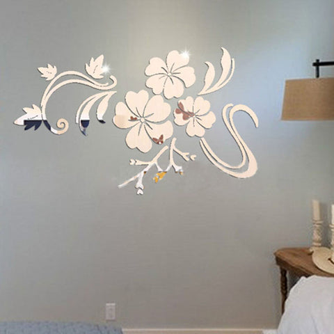 3D DIY Home Wall Decoration Floral Pattern