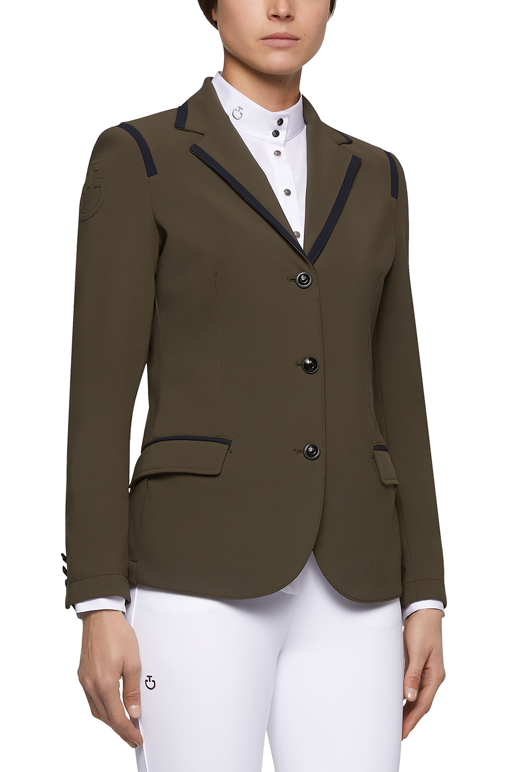 CAVALLERIA TOSCANA SHOW COAT WITH PIPING DETAIL