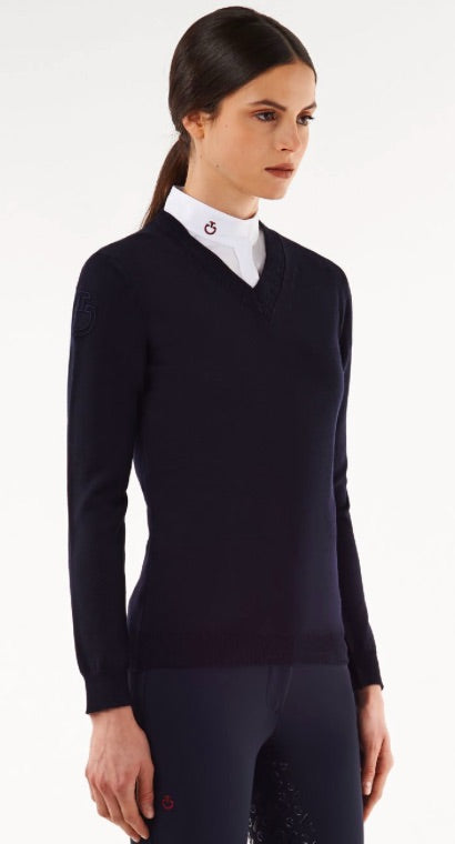 CT V-Neck Wool Sweater