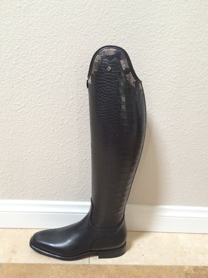 Deniro Boots With Stud Top