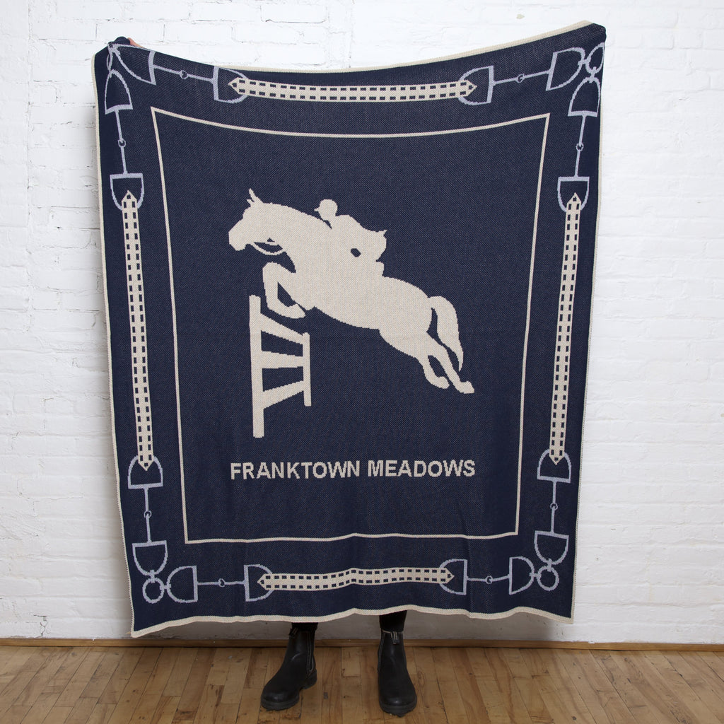 Eco Equestrian Jumper Personalized Throw