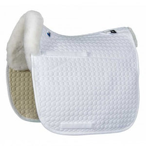 Mattes Dressage Pad With Sheepskin (bare flaps)
