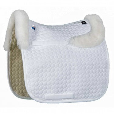 Mattes Dressage Pad With Sheepskin (bare flaps) and back trim