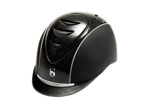 SCHARF HELMET BLACK WITH PATENT MULTI