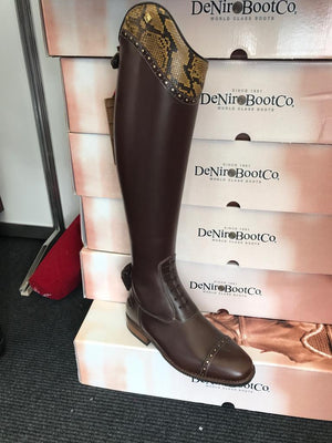 Deniro Boots Snake and Crystal Top