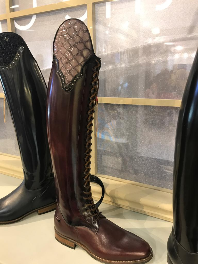 Deniro Dressage Boot With Lace And Custom Top