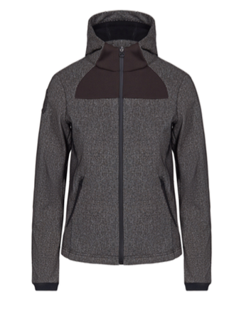 CAVALLERIA TOSCANA HOODED SOFTSHELL JACKET WITH KNIT OPTIC