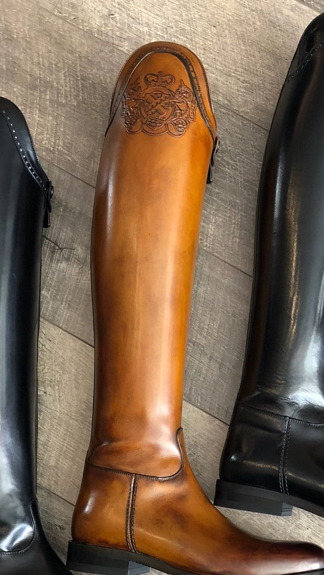Fasciani Dressage Boot With Logo Top