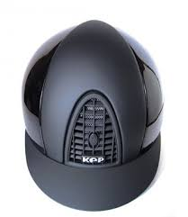 KEP CROMO POLISH BLACK WITH TEXTILE GRID, INSERTS & VISOR