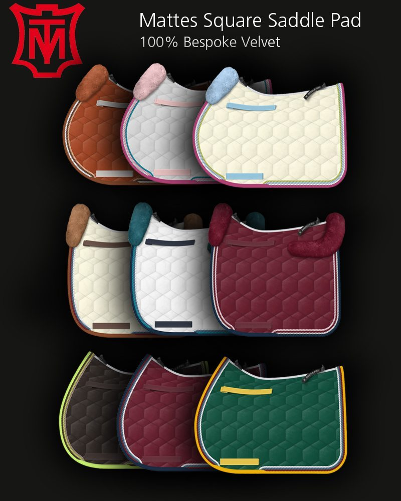 Mattes Dressage Pad Velvet With Sheepskin