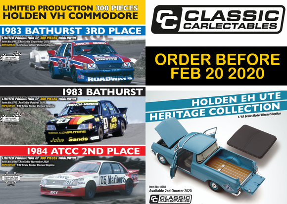 Classic Carlectables - ORDER BEFORE FEB 20!