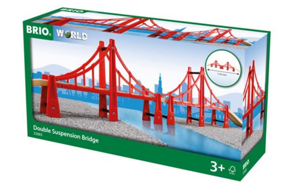 BRIO DOUBLE SUSPENSION BRIDGE 5 PC