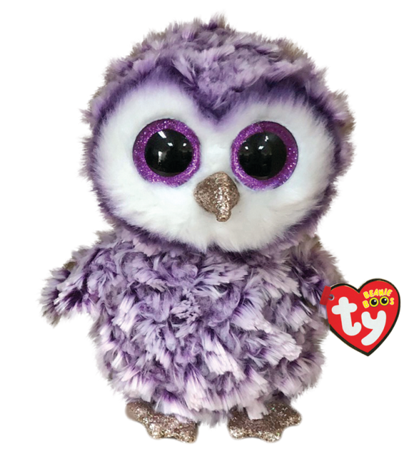 BEANIE BOOS REG MOONLIGHT PURPLE OWL