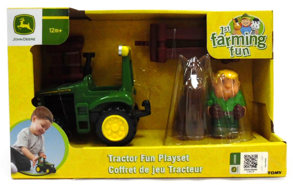 JD 1ST FARMING FUN TRACTOR PLAYSET